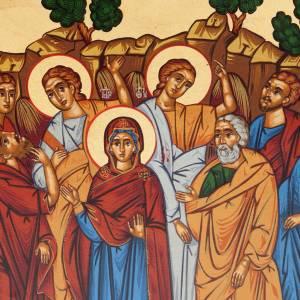 Icona Grecia serigrafata Ascensione del Signore s3