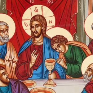Icona Grecia serigrafata Ultima cena bizantina s2