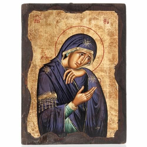 Icona Madonna Addolorata serigrafata Grecia s1
