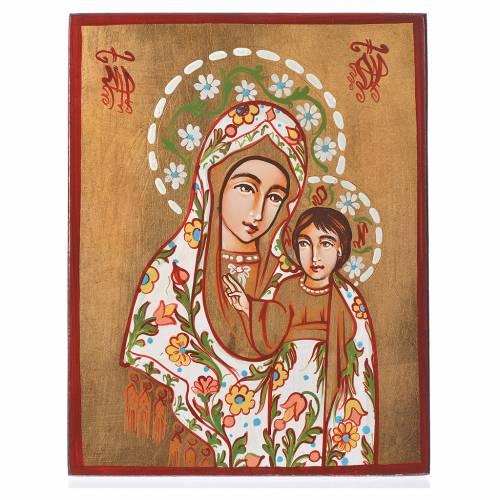 Icona Madre di Dio di Kazan manto decorato s1