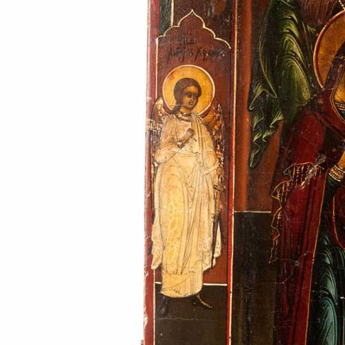 Icona antica Cristo  con la Deesis (supplica) 5