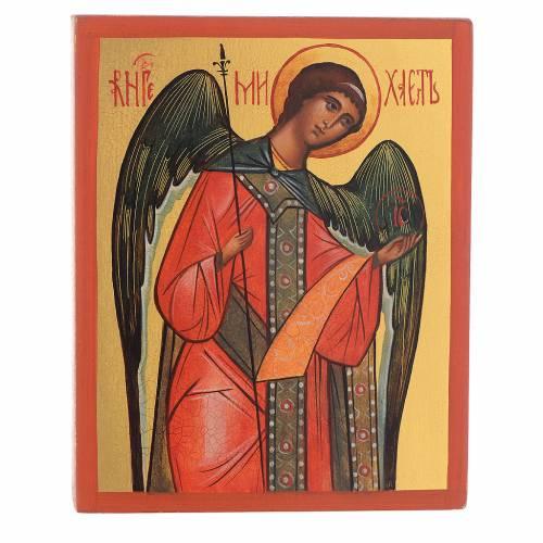 Icona russa dipinta Arcangelo Michele s1