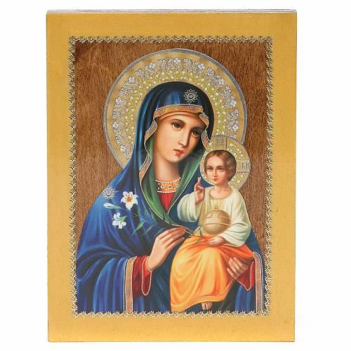 Icona Russa Giglio Bianco 20x15 cm s1