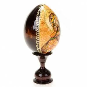 Uovo - icona Vergine di Vladimir manto marrone s3