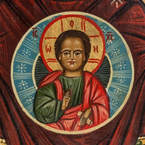 Icona Russia dipinta Madonna del Segno 20x17 cm s3