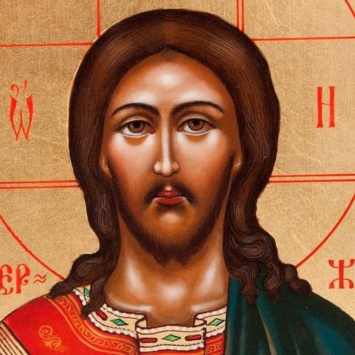 Icona sacra Cristo Pantocratore Russia 22x27 cm s3