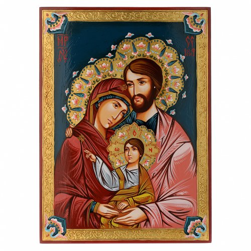Icona Sacra Fam. dipinta a mano s1