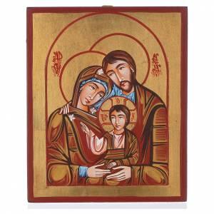 Icone Romania dipinte: Icona Sacra famiglia dipinta a mano