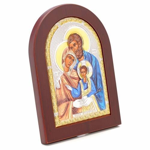 Icona serigrafata Sacra Famiglia argento s2