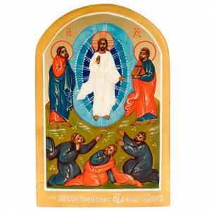 Icona sacra Trasfigurazione di Gesù 6x9 Russia s1