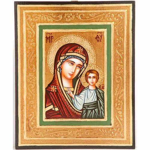 Icona sacra Vergine di Kazan rumena s1