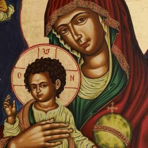 Icona Vergine Glikofilussa Grecia serigrafata e dipinta s2