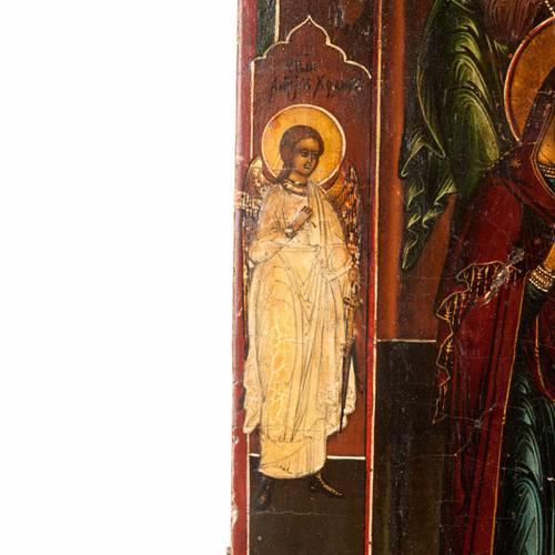 Icône ancienne Christ avec Deesis s5