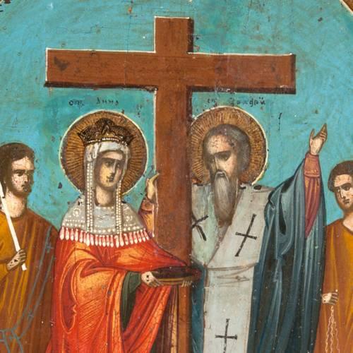 Icône ancienne, exaltation de la croix s3
