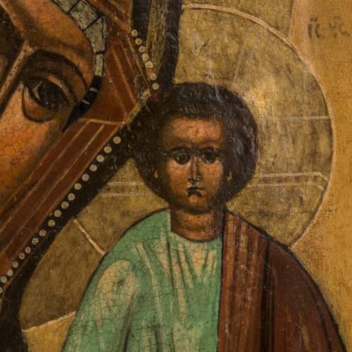 Icône ancienne Vierge de Kazan s3