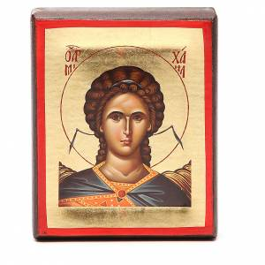 Icône Grèce sérigraphie Ange Michel 15x10 cm s1