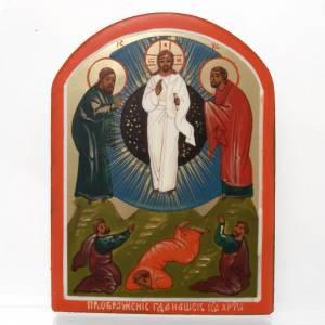 Icônes Russes peintes: Icône miniaturisée Transfiguration