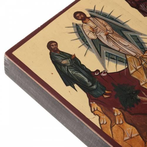 Icône peinte russe Transfiguration s4