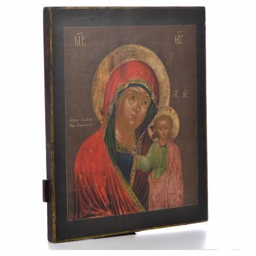 Icône russe ancienne Vierge Kazan XVIII siècle s2