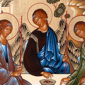Icône russe sainte trinité Rublev s4