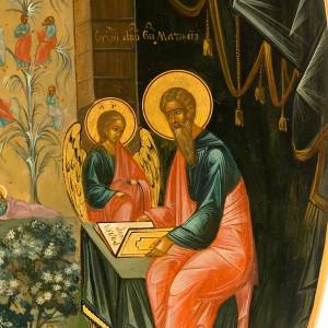 Icône saint Matteo apôtre ovale s2