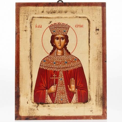 Icone Sainte Irène imprimée Grèce s1