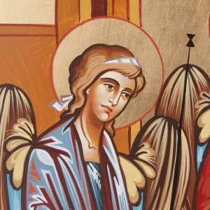 Icône sainte trinité 40x45 cm Roumanie s3