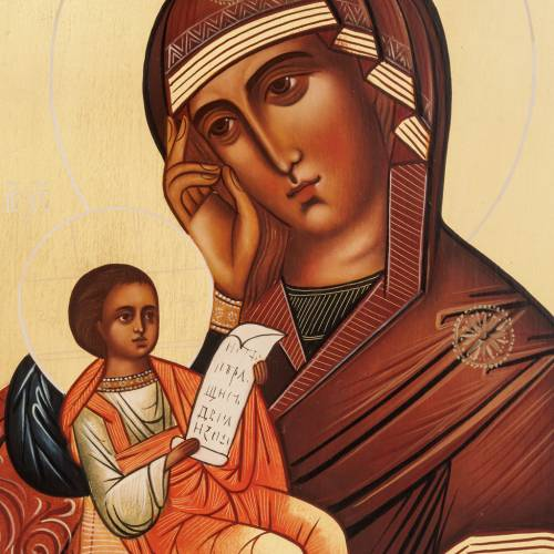 Icone Vierge 'Console ma peine' 28x22 s2