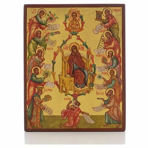 Icono rusa La Alabanza de la Madre de Dios s1