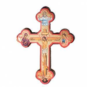 Holz, Stein gedruckte Ikonen: Ikone Kreuz gedruckte