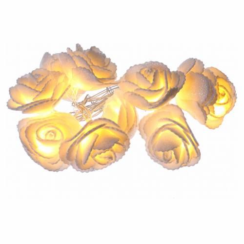 Illuminazione roselline 10 led Bianco Caldo per interno s1