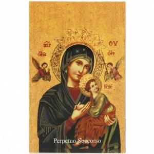 Image pieuse Notre-Dame du Perpétuel Secours prière italien s1
