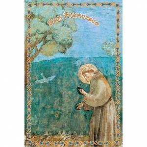 Images pieuses: Image pieuse St François le prêche aux oiseaux