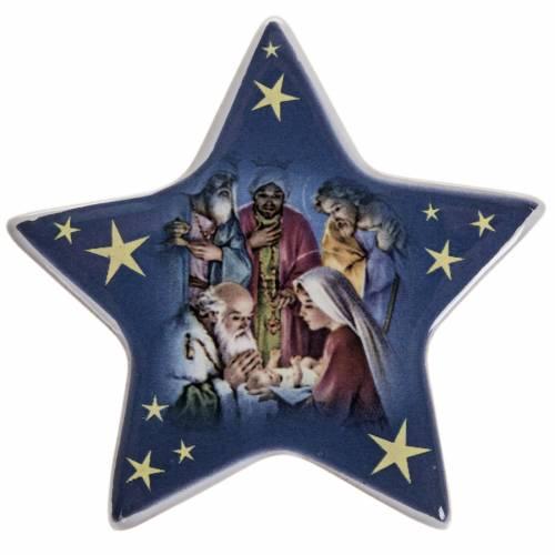 Imán cerámica Adoración de los Magos s1