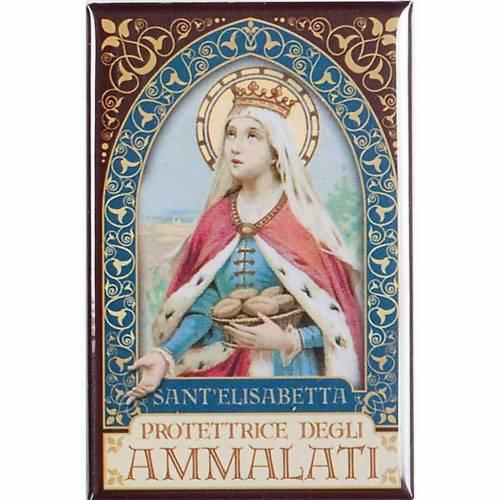 Imán Santa Isabel oro 1