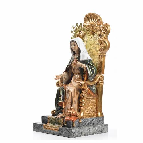 Immaculate Heart of Mary wood paste 40cm, superior finish s2
