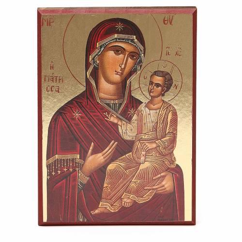 Impression fond or 16,5x23 cm Vierge du Chemin s1