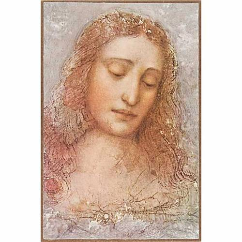 Impression Rédempteur de De Vinci sur bois s1