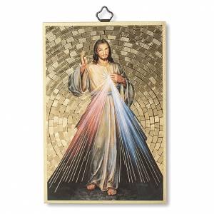 Tableaux, gravures, manuscrit enluminé: Impression sur bois Christ Miséricordieux