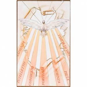 Impression sur bois Saint-Esprit avec rayons s1