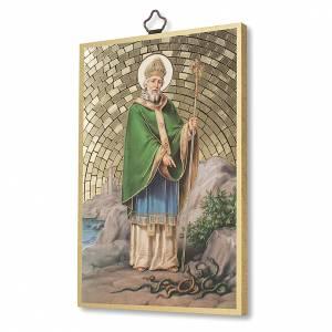 Tableaux, gravures, manuscrit enluminé: Impression sur bois St Patrick Prière du Voyageur ITA