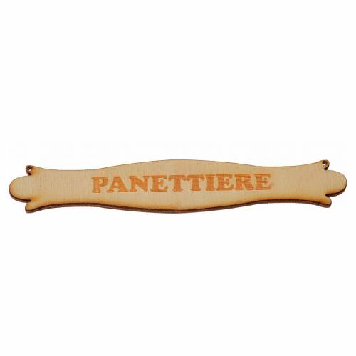 Insegna presepe Panettiere 14 cm in legno s1