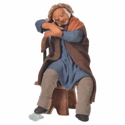 Ivrogne endormi sur une chaise 12 cm crèche Naples s1