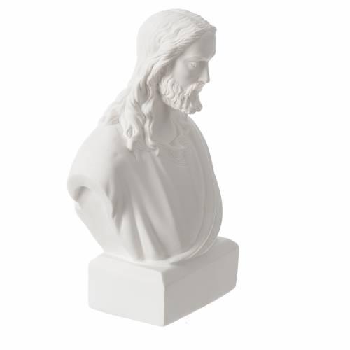 Jesus bust in reconstituted carrara marble, 19 cm s2