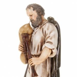 Santons crèche: Joueur de musette avec manteau crèche Moranduzzo 13 cm