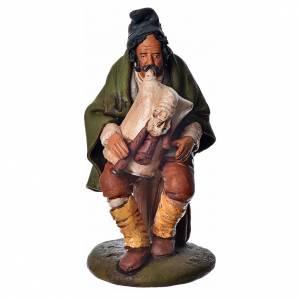 Joueur de musette crèche 18 cm terre cuite Deruta s1