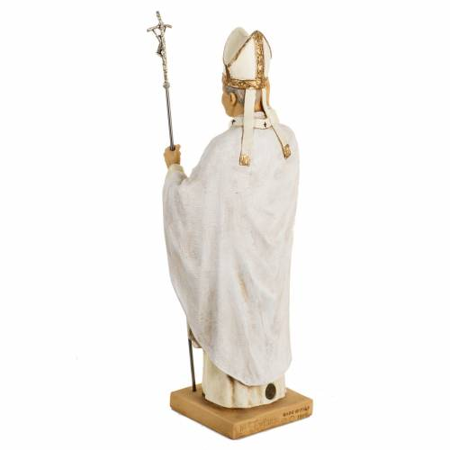 Juan Pablo II túnica blanca 50 cm. resina Fontanini s5