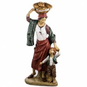Krippenfiguren: Kind und Frau Fontanini 125 cm Harz