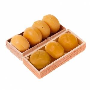 Essen Miniaturen: Kiste mit Brot Krippe