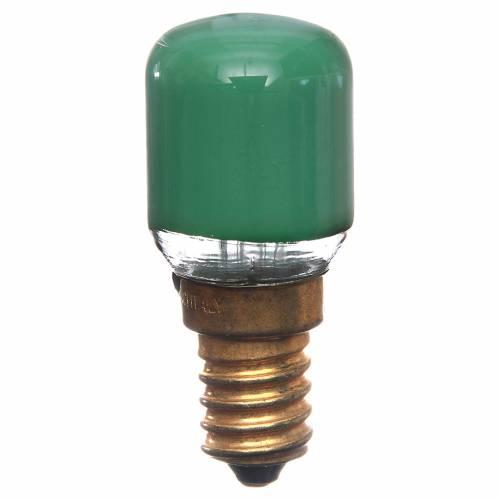 Lamp for nativity lighting 15W, green, E14 s1